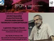"""Conferência internacional """"Investigación cualitativa en psicología: bases teóricas y conceptuales"""""""