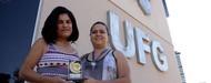 Aluna recebe prêmio nacional
