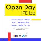 Open Day IPE lab - Calendário de Dezembro
