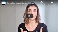 Professora da UFG ensina a fazer máscara caseira
