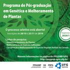Edital Prog de PG em Genética e Melhoramento de Plantas