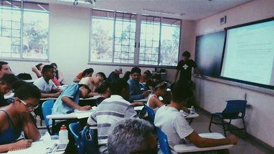 Aula no Cursinho Federal de Goiás / UFG