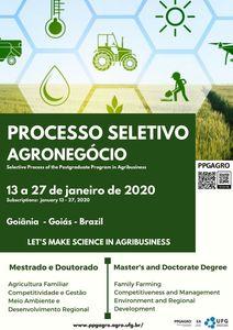 Divulgação Seleção PPGAGRO 2019
