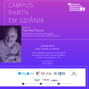 Palestra da UFG com o presidente do Instituto Campus Party
