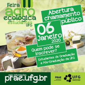 Credenciamento Feira Agroecológica dos estudantes da UFG