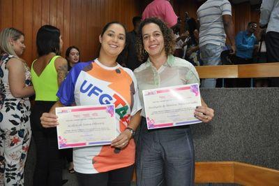Premiação de professoras da UFG_EVZ