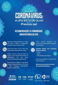 Campanha Coronavírus UFG 2020 - orientações