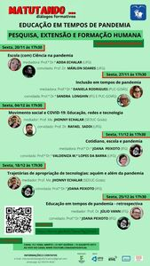 Programa Matutando: diálogos formativos - 5ª série de entrevistas