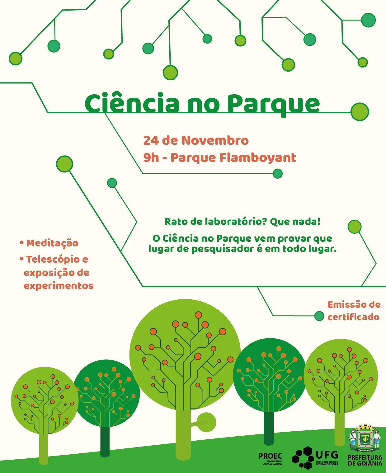 Convite Ciência no Parque