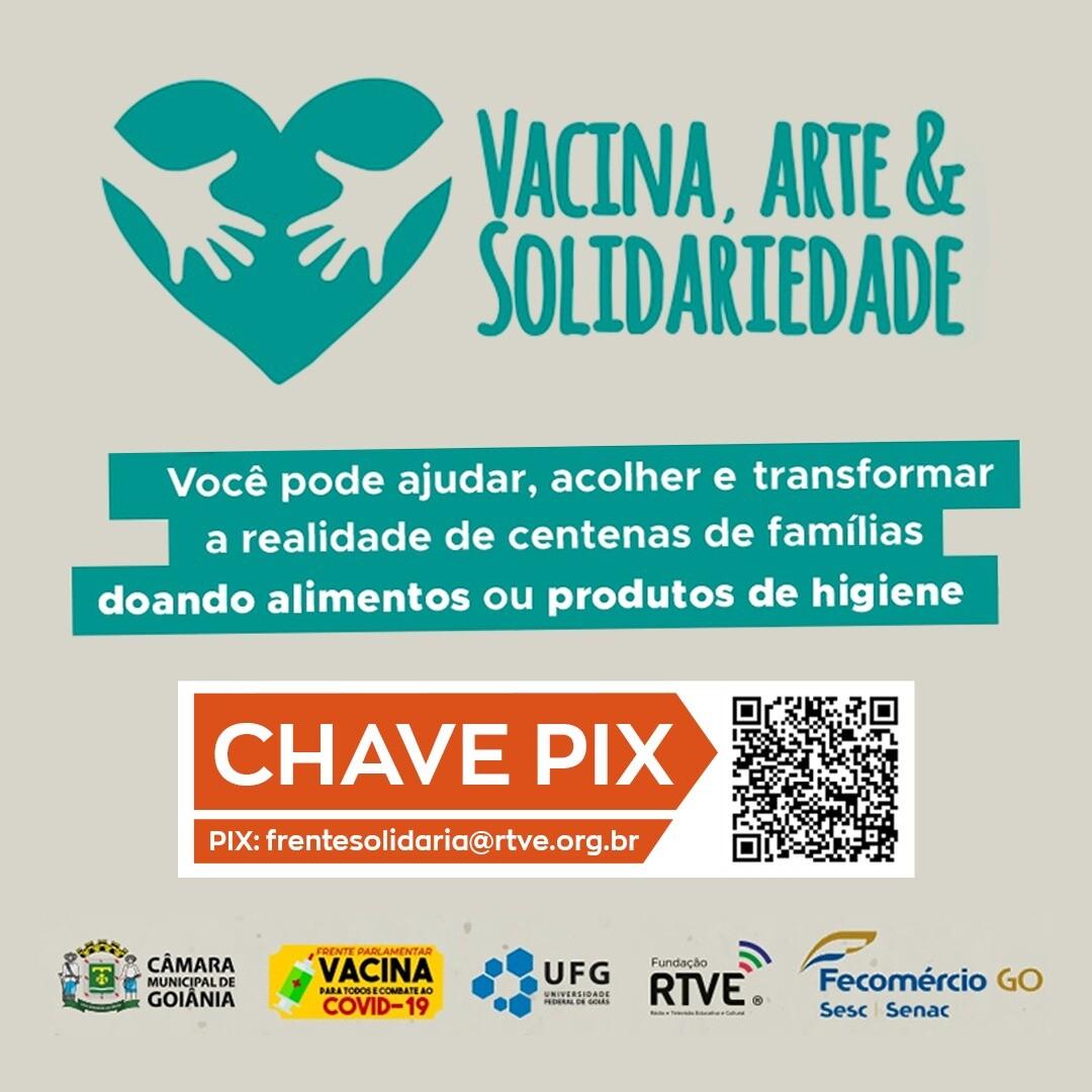 Campanha vacina, arte e solidariedade