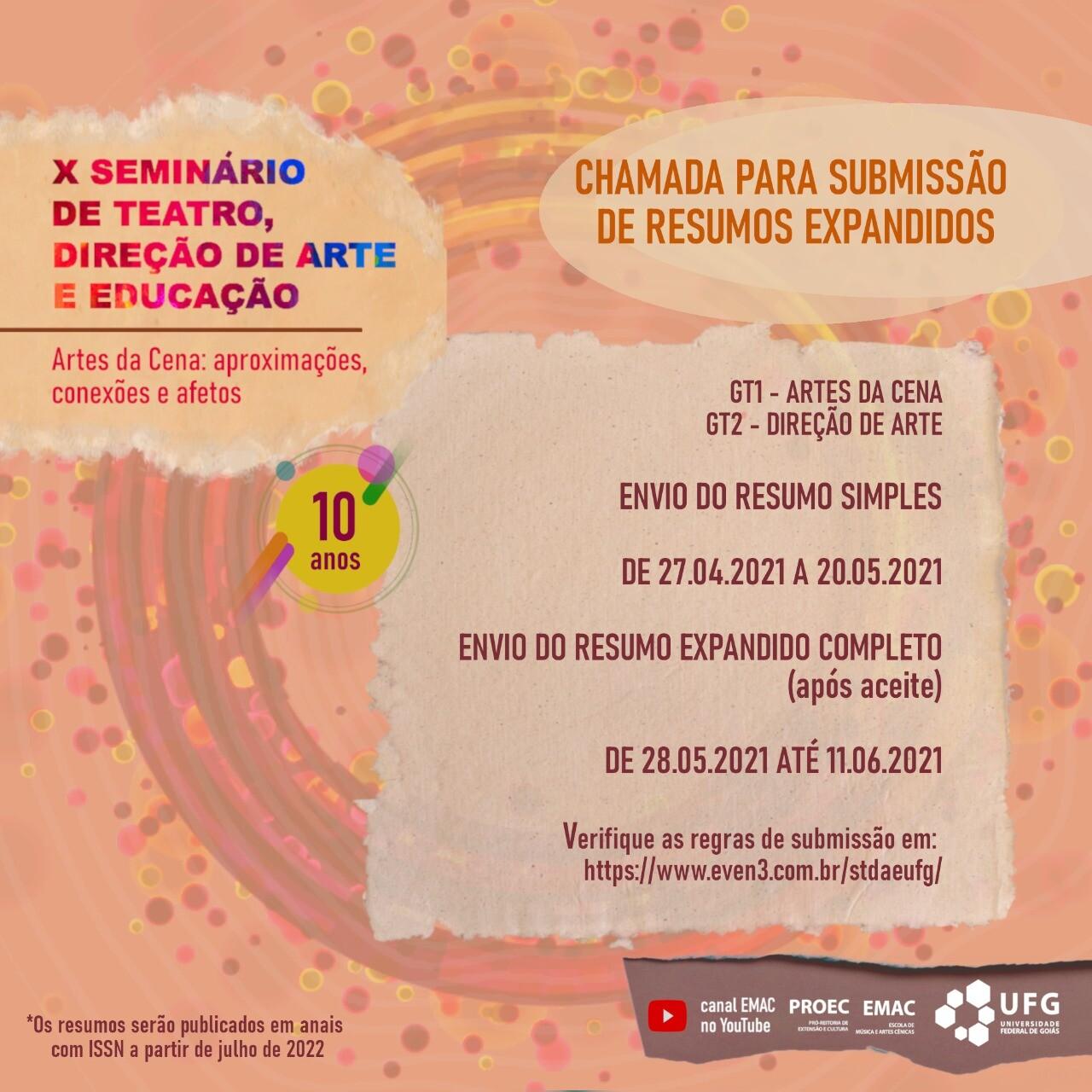 X Seminário de Teatro, Direção de Arte e Educação (2-1)