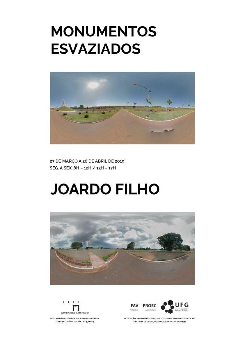 Exposição Monumentos Esvaziados do artista Joardo Filho