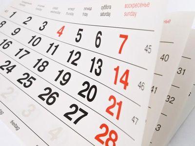 calendário.