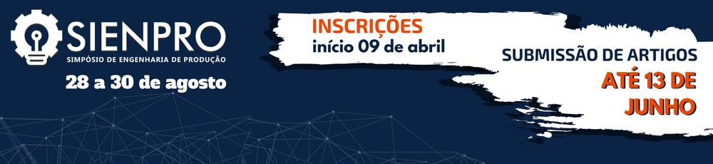 SIENPRO - INSCRIÇÕES > INÍCIO 09 DE ABRIL!