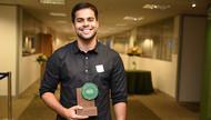 Diogo Samia, ganhador do Prêmio Capes-Natura Campus Excelência em Pesquisa na categoria sociobiodiversidade e conservação biológica (foto: Isabelle Araújo/MEC)