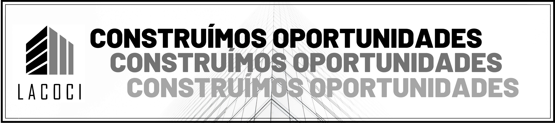 Banner Lema: Construímos Oportunidades.