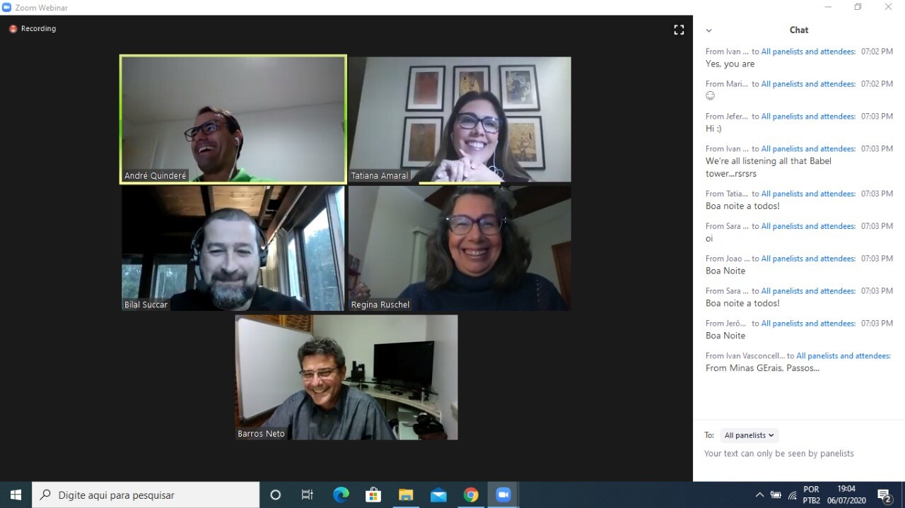 Participantes do webinar 2