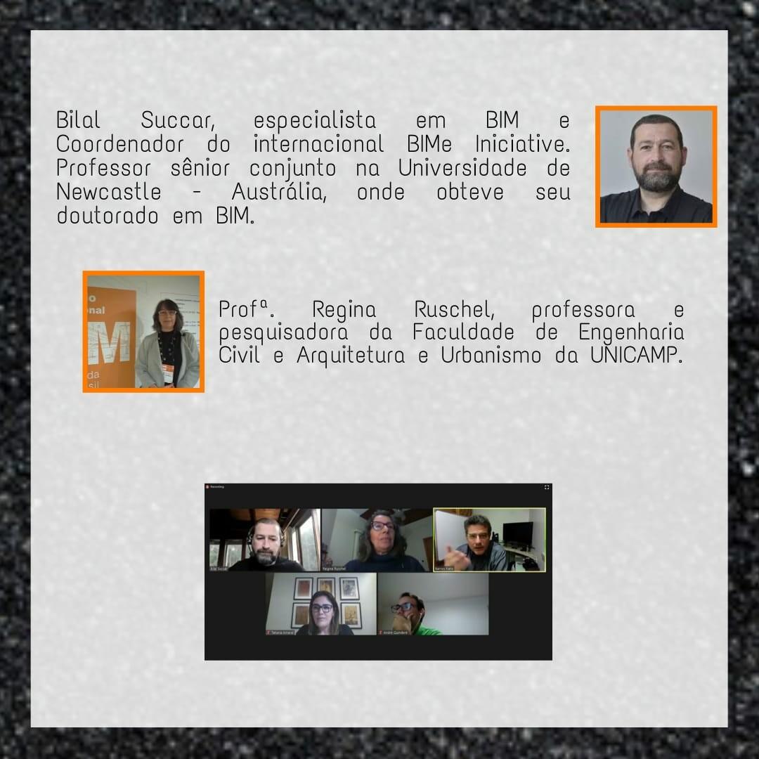 Descrição dos palestrantes do evento.