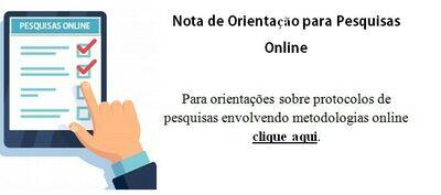 Nota de Orientação para Pesquisas Online