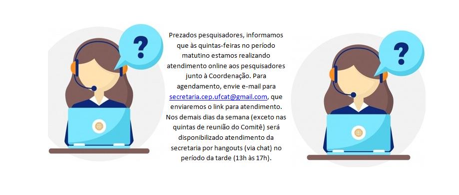 Informe de atendimento online CEP/UFCAT