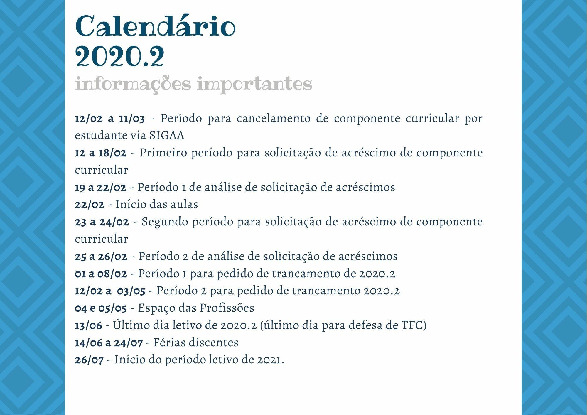 Calendário - Principais Datas