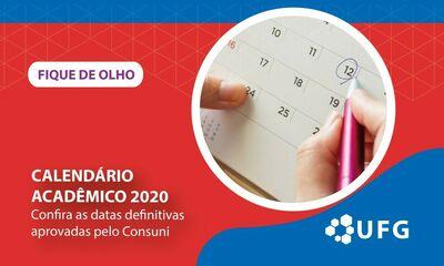 Novo Calendário Acadêmico-2020