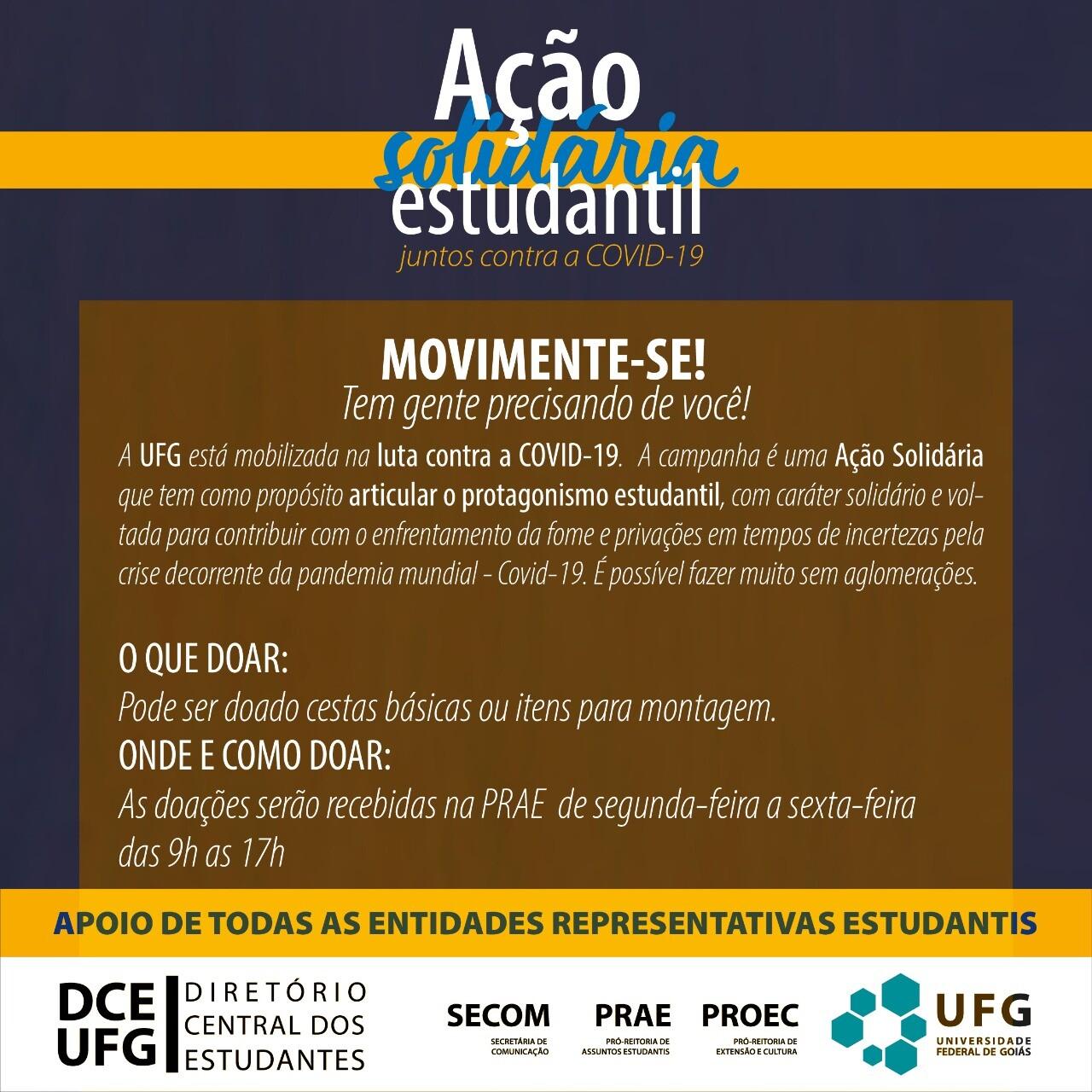 Ação estudantil solidária