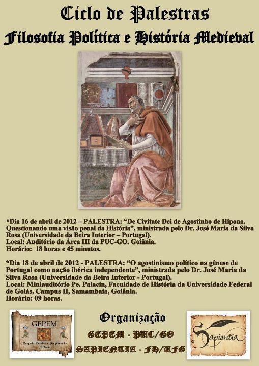 Ciclo de Palestras – Filosofia Política e Pensamento Medieval  3510b6ed6b550
