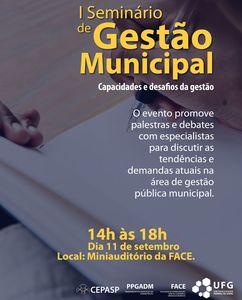 I seminário de gestão municipal