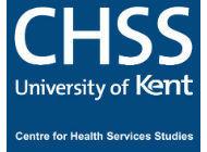 CHSS University of Kent