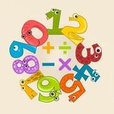 números coloridos formando um círculo