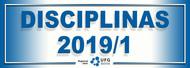 Disciplinas 2019/1