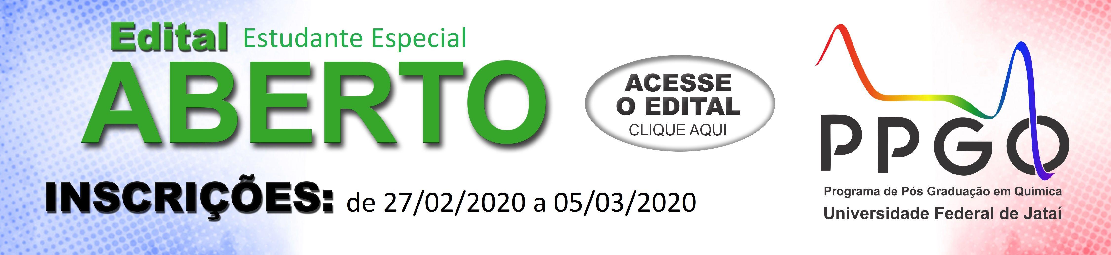 Estudante Especial 2020-I