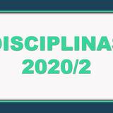 DISCIPLINAS 2020-2