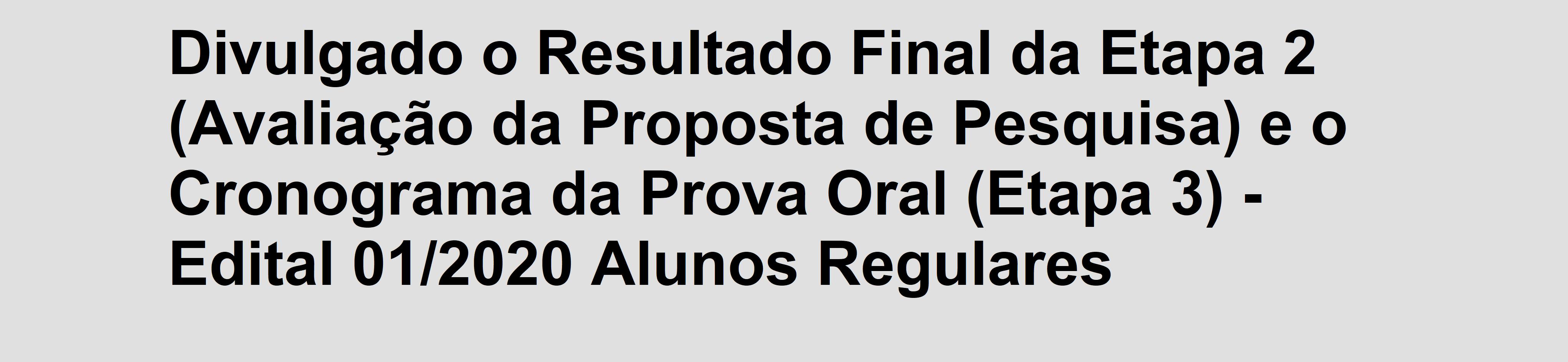 Banner_Alunos_Regulares_2020-1 - Resultado Preliminar Etapa 3