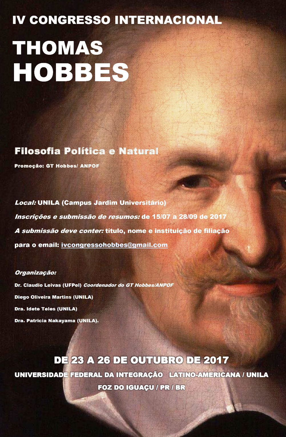 Cartaz do Congresso Hobbes 2017