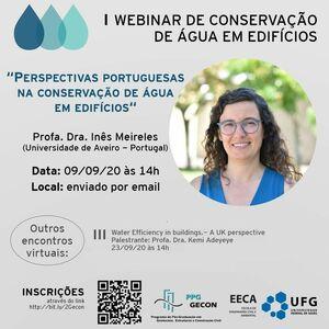 webinar de conservação de água em edifícios