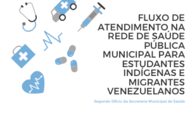 CARD FLUXO ATENDIMENTO ESTUDANTES INDIGENAS E MIGRANTES VENEZUELANOS