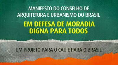 Manifesto moradia digna