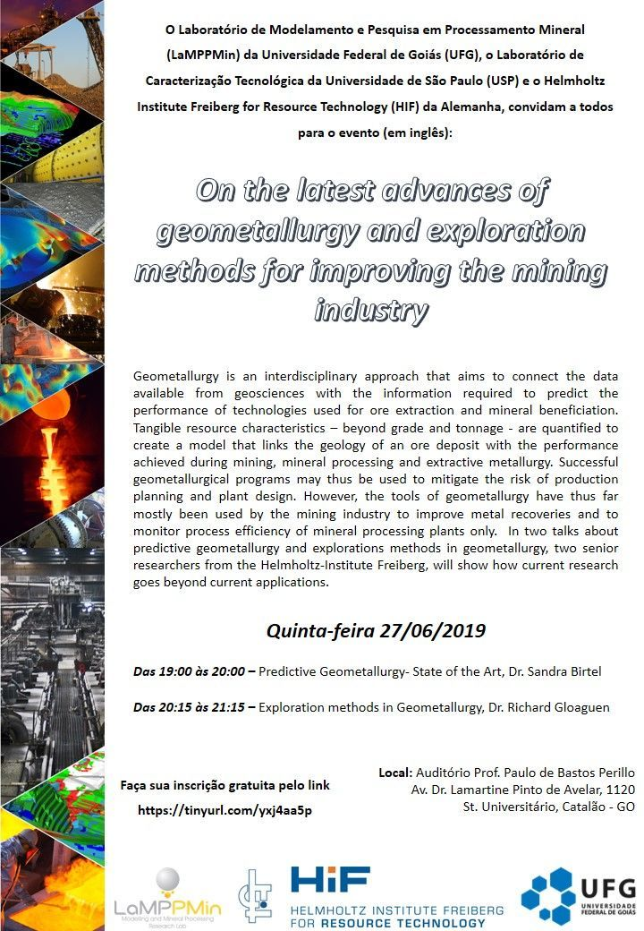 Folder - On the latest advances of geometallurgy and exploration methods for improving the mining industry 2019