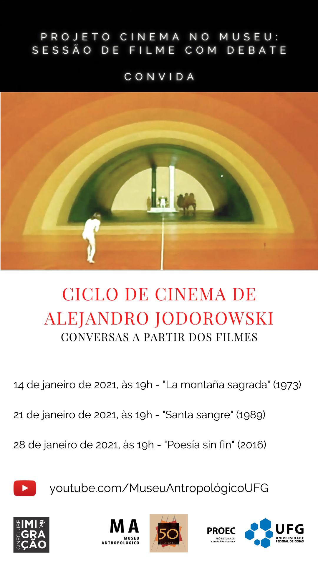Cartaz ciclo de cinema Alejandro Jodorowski
