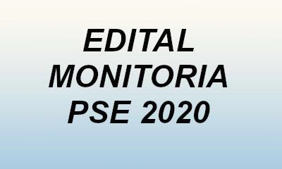 Edital Monitoria  PSE