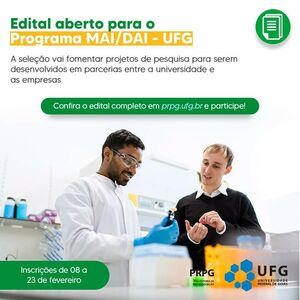 Edital Programa MAI DAI UFG 2021