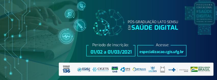 Banner Pós-Graduação Lato Sensu em Saúde Digital