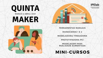 Calendário Quinta Maker - Março/ Abril
