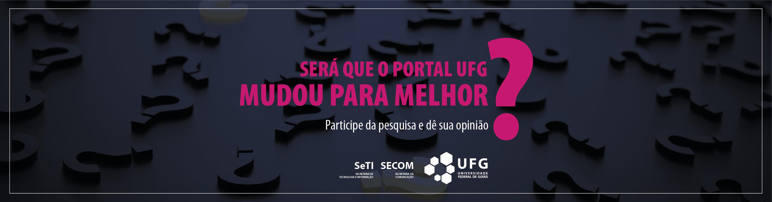 Ícone para acesso à Pesquisa de melhoria do Portal UFG