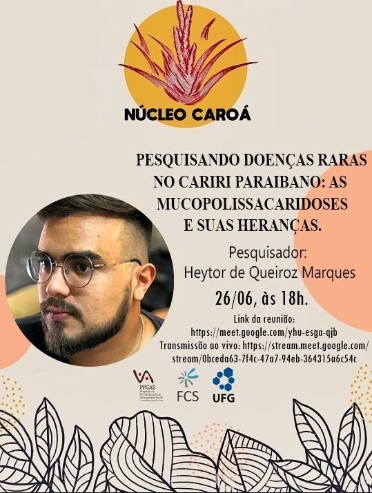 Cartaz de divulgação do ateliê do dia 26/06/2020