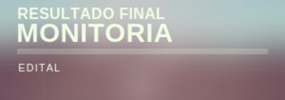 Resultado Final Monitoria 01/2019