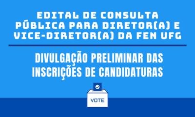 Inscrições Preliminares de Candidaturas Eleição