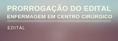 PRORROGAÇÃO DO EDITAL No 02/2019